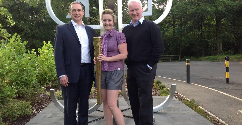 Paul McStay, EKCT Chief Executive Monique McAdams and EKCT Trustee Liam Donnelly