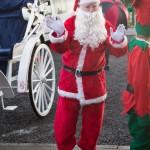 Santa arriving at the party