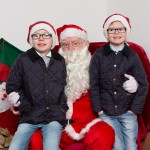 Santa with Campbell and Fraser