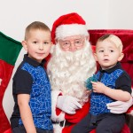 Santa with Dylan and Cole