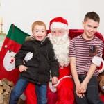 Santa with Alfie and Ben