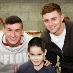 meeting the Rangers Football players