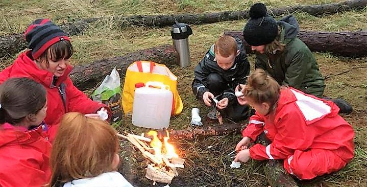 family firelighting