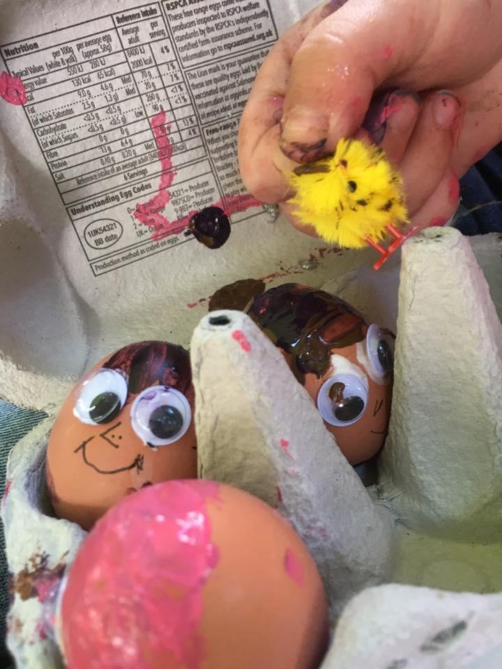 easter boiled eggs
